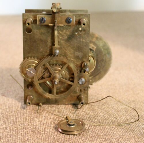 Original Waltham Clock Company Weight Regulator Clock Movement, Rare