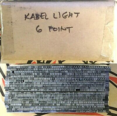 Letterpress Type Kabel Light 6-point Lead Foundry Type