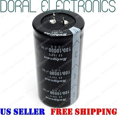 10000uF 100V 42x80 mm Capacitor Electrolytic 10000 UF MFD 10000mfd 100 volt for sale  Miami