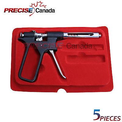 Intraligamental Anesthetic Pistol Gun Syringe Dental Instrument Lot Of 5 Pieces