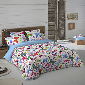 Naturals funda nordica cama colorful mariposas duvet cover ebay - Naturals fundas nordicas ...
