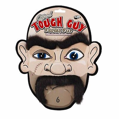 Tough Guy Biker Costume Facial Fur Eyebrows And Moustache Disguise Kit Elope (Costume Eyebrows)