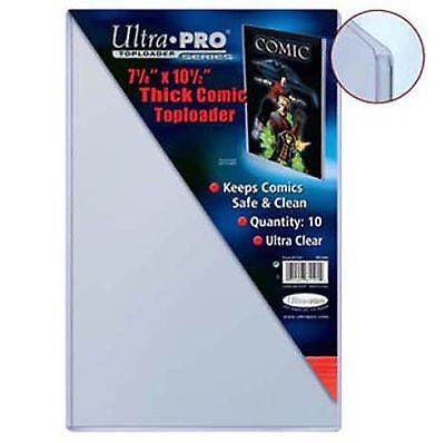 10 ULTRA PRO COMIC TOPLOADERS 7 1/8 x 10 1/2 81191-10