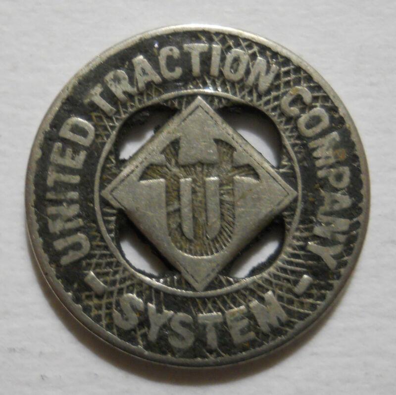 United Traction Company System (Albany, New York) transit token - NY10A