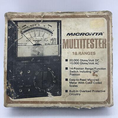 Radio Shack Micronta 22-201b Multimeter Tested And Works Af