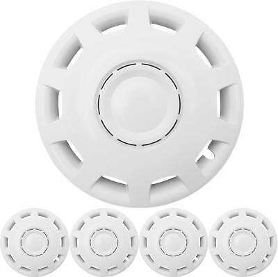 """4x PREMIUM DESIGN Radkappen Radzierblenden 14 ZOLL""""Granit"""" in Weiß"""
