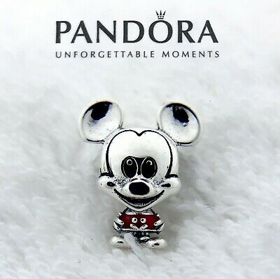 New Pandora Silver 925 Disney Mickey Mouse Red Trousers Charm 798905C01