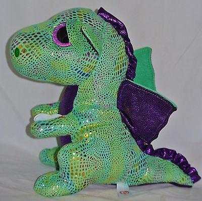 New  Ty Beanie Boos Cinder The Dragon Medium Buddy 9 Size