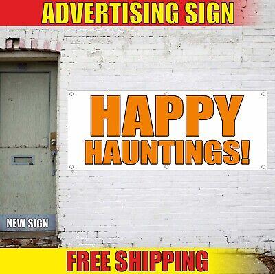 Halloween Party Advertisement (hauntings Banner Advertising Vinyl Sign Flag happy haunted house halloween)