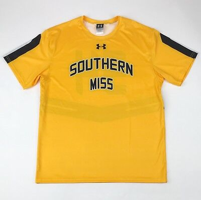 New Under Armour Men's L Southern Miss Golden Eagles Baseball Jersey Yellow $55 ()