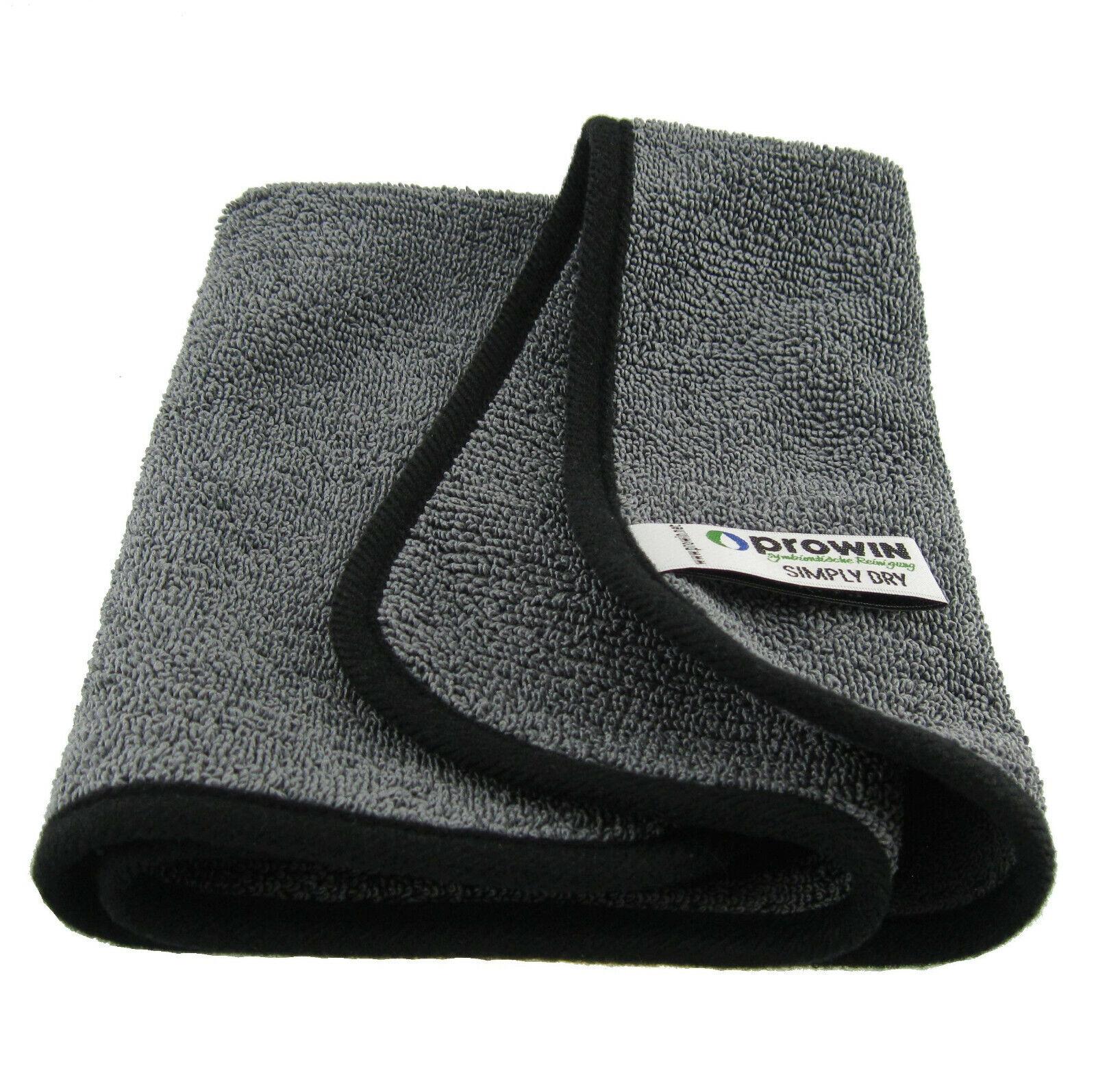 ProWin Badreinigung Simply Dry grau schwarz 40 x 40 cm Trocknungstuch