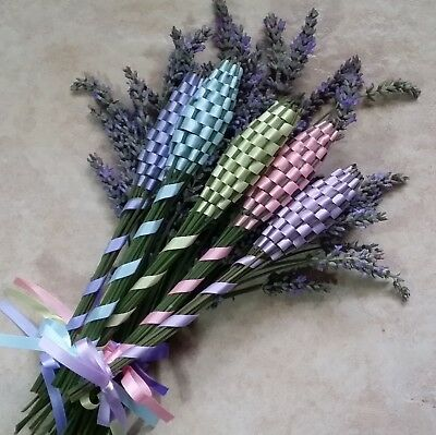 Baby Shower Real Lavender Wands Five 5 Small Size Free Shipping Handmade