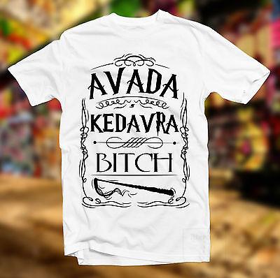 AVADA KEDAVRA BITCH T SHIRT HARRY POTTER MAGIC SPELL GRYFFINDOR HOGWARTS WIZARD
