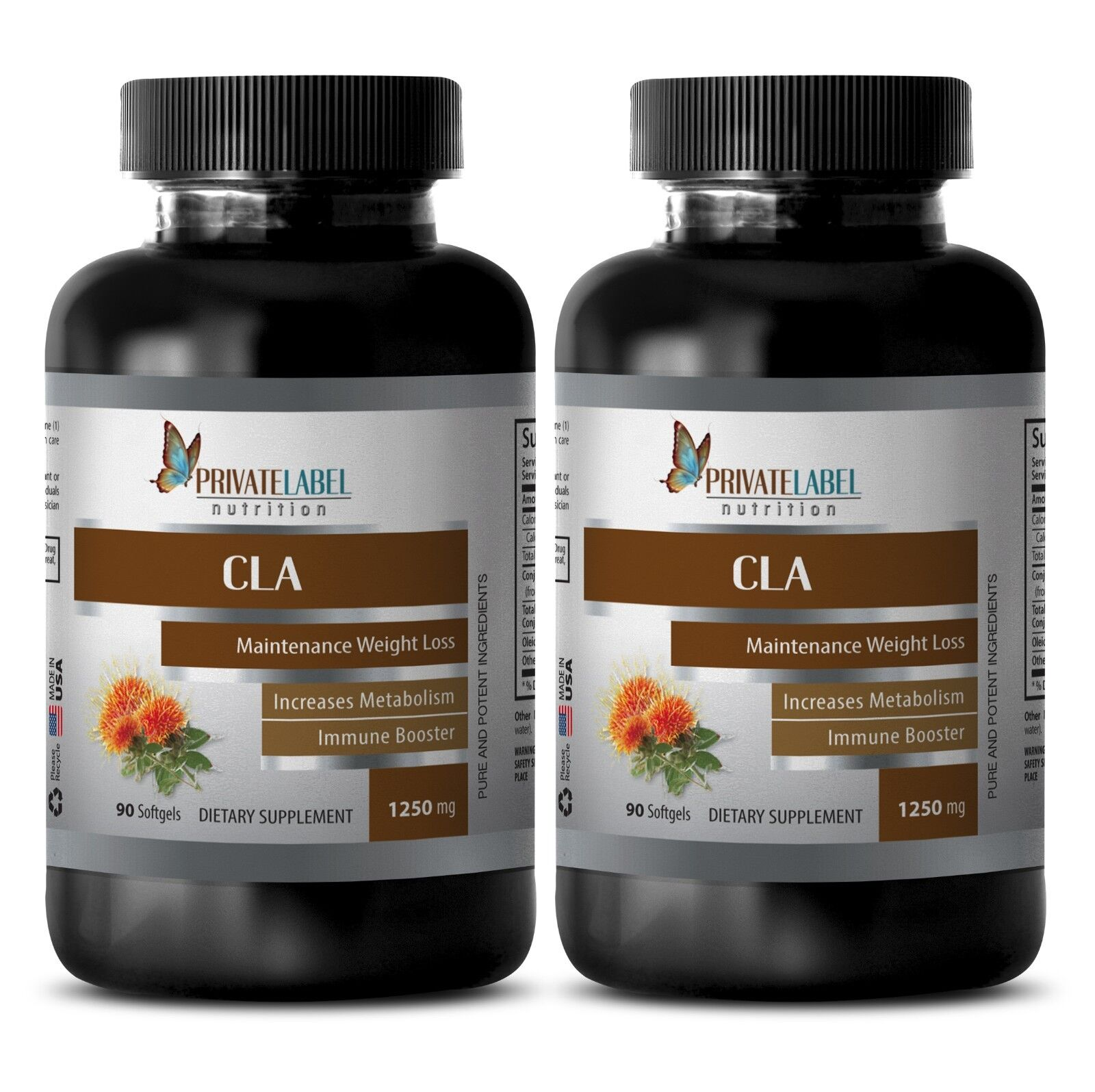 Immune Support Supplement - Cla 1250mg - Weight Loss Oil ...