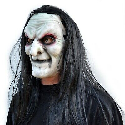 Halloween Witch Masks (Halloween Witch Mask Scary Comic-con Cosplay Latex Old Costume Mask with)