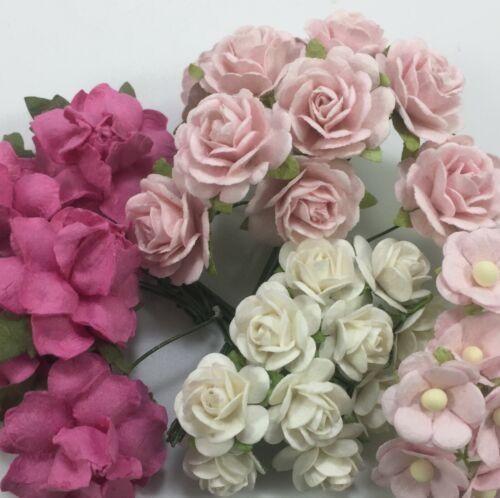 35 Mix Paper Flower Wedding bouquet DIY Scrapbook Card Topper TH/SET-Q5(3)
