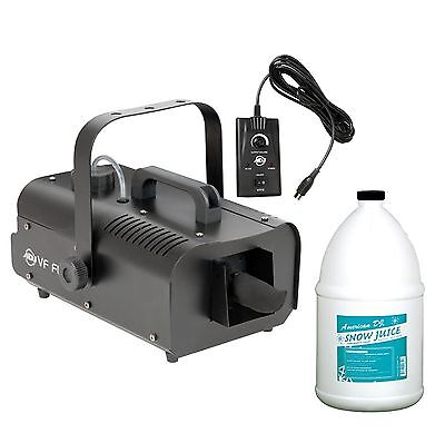 American DJ ADJ VF Flurry Snow Machine Flake Effect w/Remote & Snow Fluid Gallon