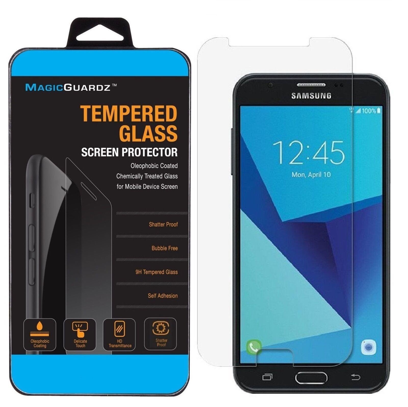 Купить For Galaxy J7 2017 / J7 Perx / J7 V / J7 Sky Pro Tempered Glass Screen Protector