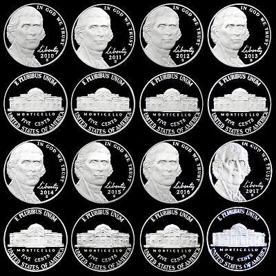 2010 Through 2017 S Proof Jefferson Nickel Set - 8 Coin Set
