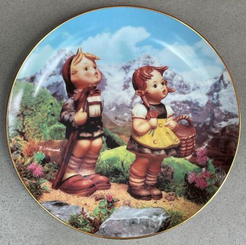 Vintage 1990s Danbury Mint Hummel Collector Plate Little Companions - 1