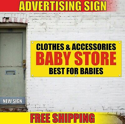 CLOTHES ACCESSORIES BABY STORE Advertising Banner Vinyl Sign Flag BEST FOR