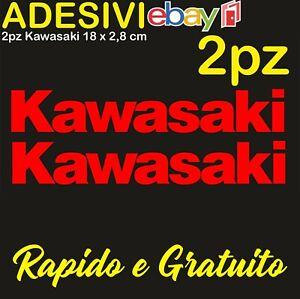 Kit-2-Adesivi-Kawasaki-636-zx6r-zx10r-Z900-z750-z1000-er6n-versys-Stickers-ROSSO