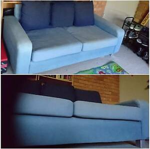 FREE TO PICKUP - blue sofa with cushions Taringa Brisbane South West Preview
