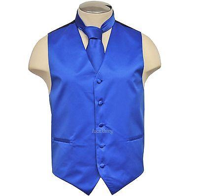 New Brand Q Formal Men's Vest Tuxedo Waistcoat & Necktie Roy