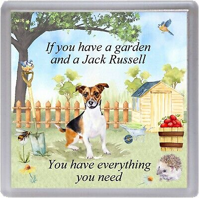"""Jack Russell Terrier Dog Coaster """"If you have a garden ...."""" Gift by Starprint"""