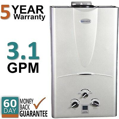 Tankless Hot Water Heater Natural Gas 3 1 Gpm Marey On Demand Digital Temp Gauge
