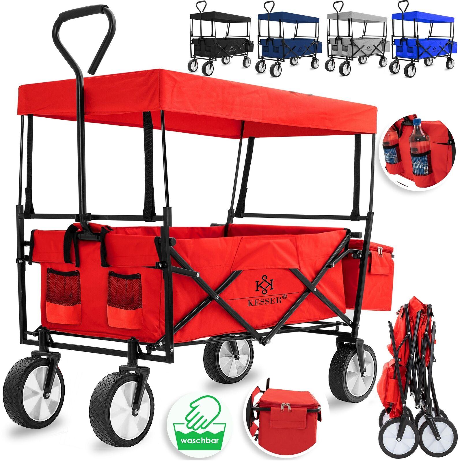 KESSER® Bollerwagen Faltbar Dach Handwagen Klappbar Transportkarre Gerätewagen