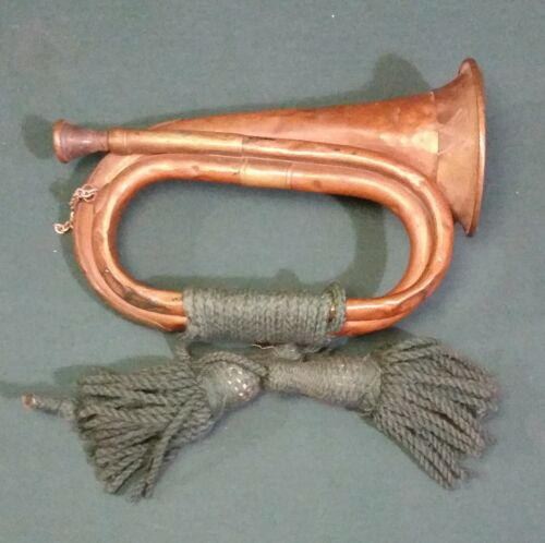 WW1 Canadian Field Bugle With Cording
