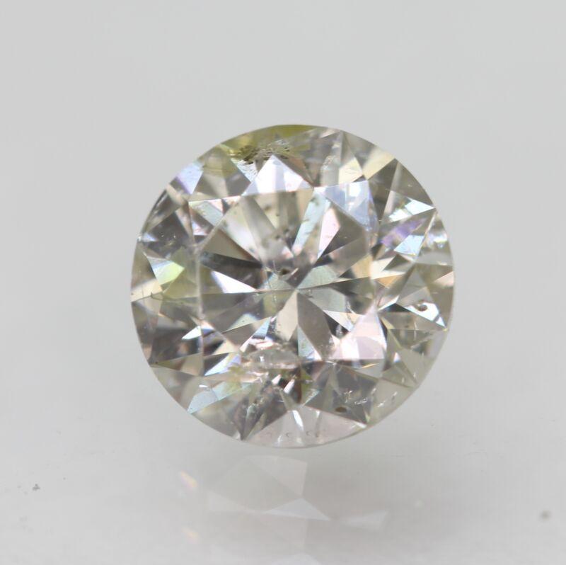 Cert 0.92 Carat Light Yel Silver SI1 Round Brilliant Natural Loose Diamond 6.13m