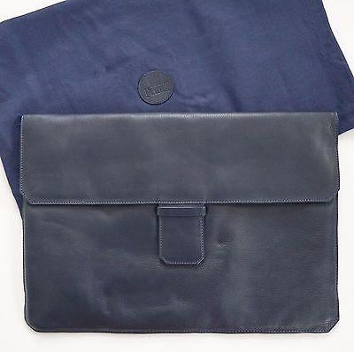 Authentic PIAGET Blue Leather Business Folio Attache Document Bag Laptop Case