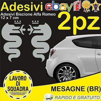 KIT 2 Adesivi Biscione ALFA ROMEO sticker MITO 147 159 GIULIA STELVIO...