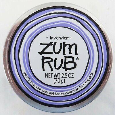 Indigo Wild ZUM RUB Lavender Goat's Milk & Shea Butter 2.5 oz Sealed Tin (Wild Rub)
