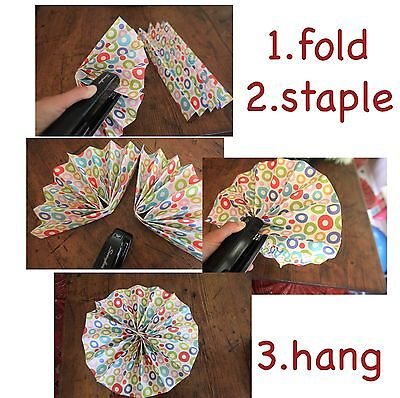 How to Make Paper Fans for Birthday Party Decorations  eBay