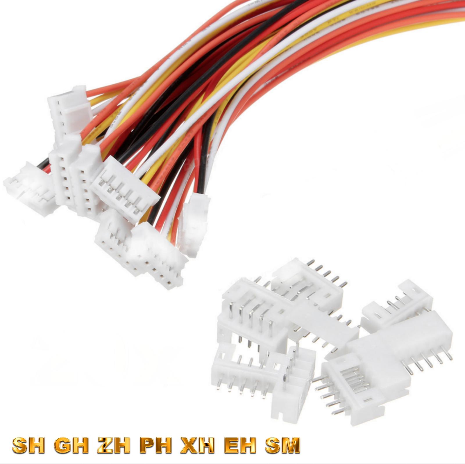 Buchse JST-XH 5 Set 2Pin Mini JST XH 2.5mm 2.5 Stecker 15cm Kabel 10 Stück