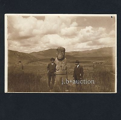Chile PRÄKOLUMBIANISCHE KUNST Precolombian Art * MOAI * Vintage 1890s Photo
