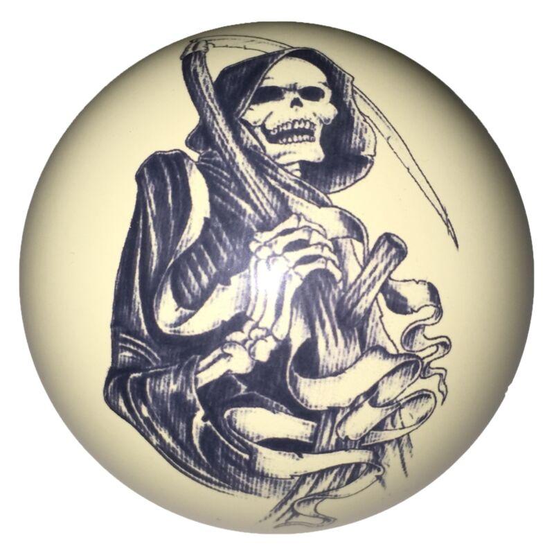 Pool/Billiards Grim Reaper Skull Custom Cue Ball Great Gift! Unique