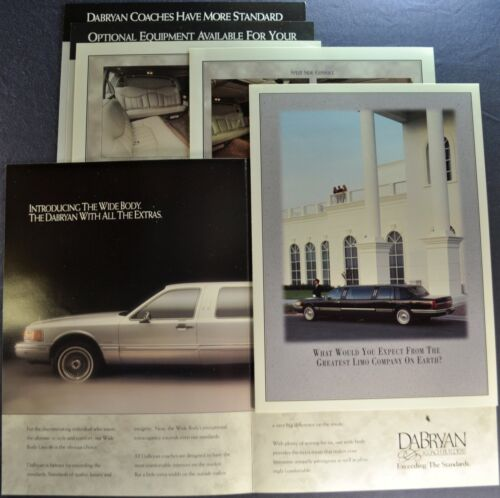 1996-1997 Dabryan Limousine Brochure Folder Cadillac Fleetwood Lincoln Town Car