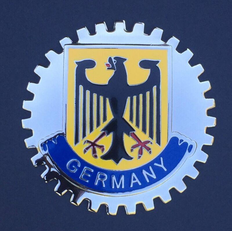 GERMANY COAT OF ARMS CREST AUTOMOBILE GRILLE BADGE EMBLEM