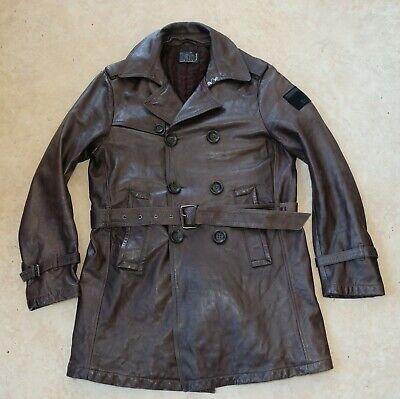 Pal Zileri Lab Leather Mens Coat Jacket Size 50