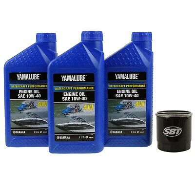 Yamaha Oil Change Kit 4-Stroke PWC Motors **Except the 1.1L** LUB-WTRCG-KT-00