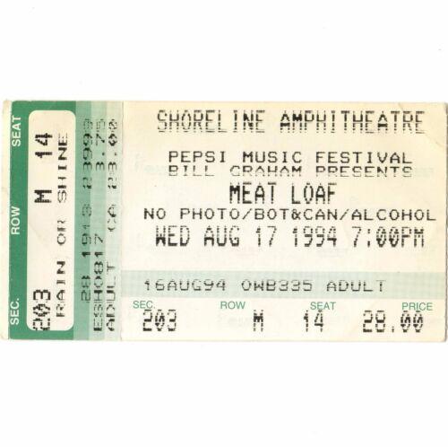 MEAT LOAF & CHEAP TRICK Concert Ticket Stub SHORELINE 8/17/94 EVERYTHING LOUDER