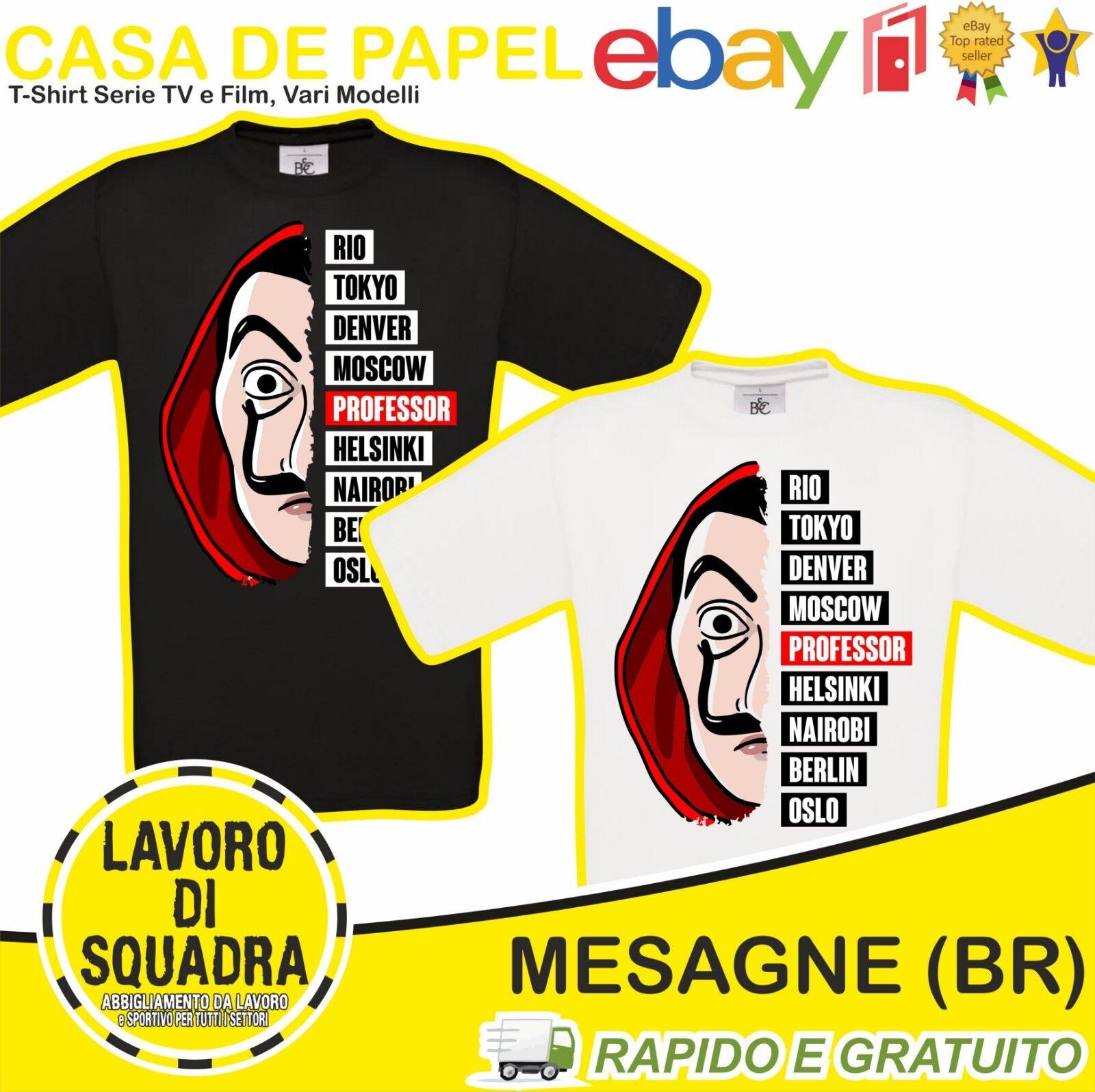 T Shirt CASA DE PAPEL La Casa Di Carta Personaggi Serie Tv Professore Film