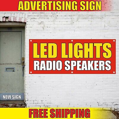 Led Lights Radio Speakers Banner Advertising Vinyl Sign Flag Electronic Shop Now