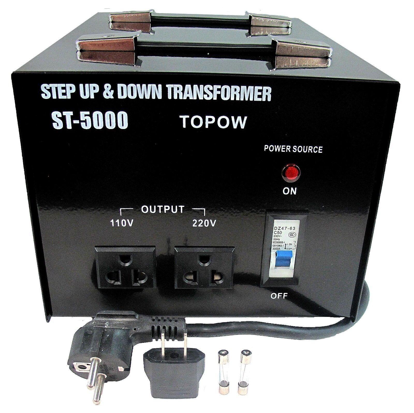 5000W Watt Step Up Down Electric Power Voltage Converter Transformer ...