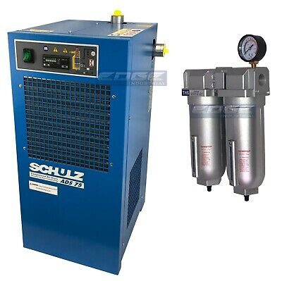 Schulz 75 Cfm Refrigerated Compressed Air Compressor Dryer 115v Complete Kit