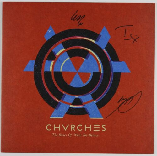 Chvrches JSA Signed Autograph Album LP Record Vinyl 4 Charity The Bones Of What